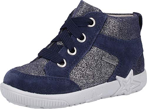 Superfit Baby Mädchen Starlight Gore-Tex Sneaker, (Blau 80), 24 EU