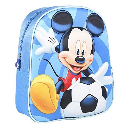 Mochilas, bolsos y papeleria mickey Unisex-Kinder Mochila INFANTIL 3D MICKEY KIDS RUCKSACK, Multicolor, Wenig
