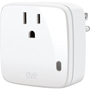 Eve Energy - Smart Plug & Power Meter with built-in schedules, switch a connected lamp or device on & off, voice control, no bridge necessary, Bluetooth Low Energy (Apple HomeKit)