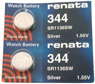 #344 Renata Watch Batteries 2Pcs