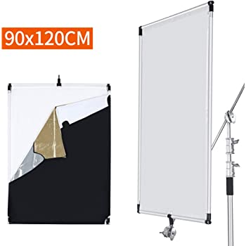 OPENCLOUD Pro Studio Solutions 23.6 in x 35.4 in Sun Scrim Collapsible Frame Diffusion//Black//Golden//White//Silver Reflector Kit