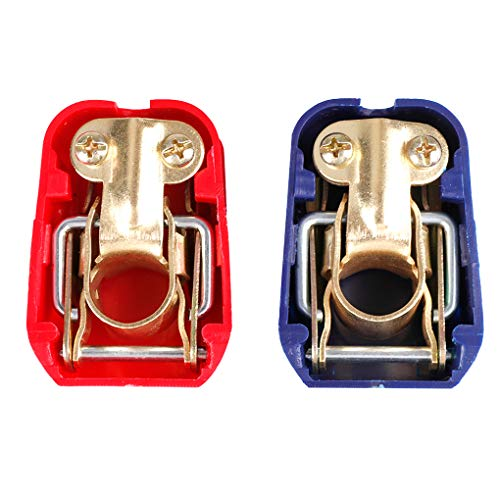 zhibeisai 1 Pair Universal 12V Quick Release Battery Terminals Clamps Car Caravan Boat Motorcycle Accessories