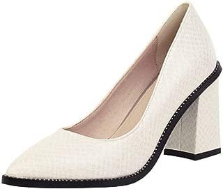 TAOFFEN Women Elegant Pointed Toe Pumps High Heels