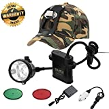 GearOZ Headlamp Flashlight, 4 LED Lighting Modes Rechargeable and Waterproof headlight for Coon...