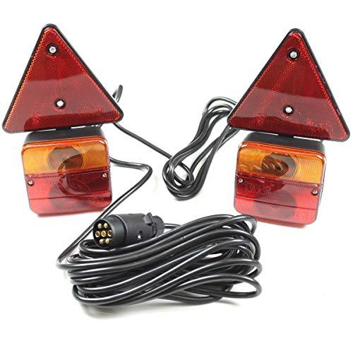 Rückleuchten Set 7 polig 6,5m verkabelt Anhänger Anhängerbeleuchtung Rücklichter