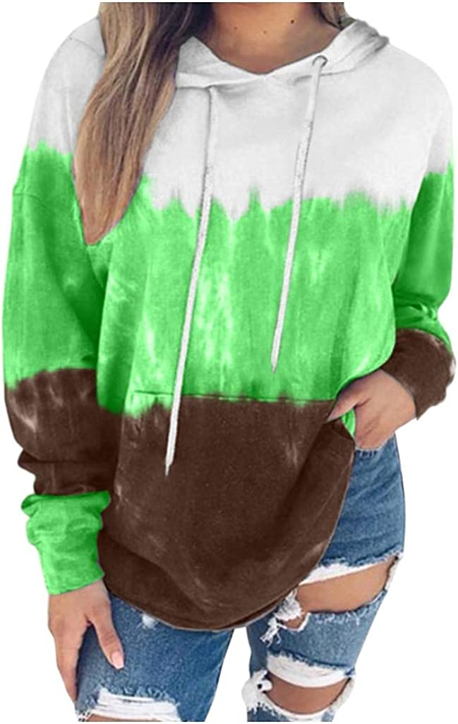 Womens Shirt, Women Girls Fashion Long Sleeve Tie Dyed Crop Top Sweatshirts Casual Gardient Color Pullover Tees