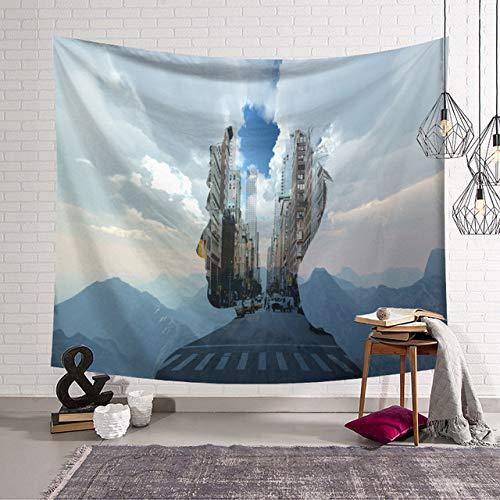 xkjymx Cortinas de baño Baño 3D Impresión Individual Tapiz de Ducha Manta de montaña Colgante de Pared Toalla de Playa