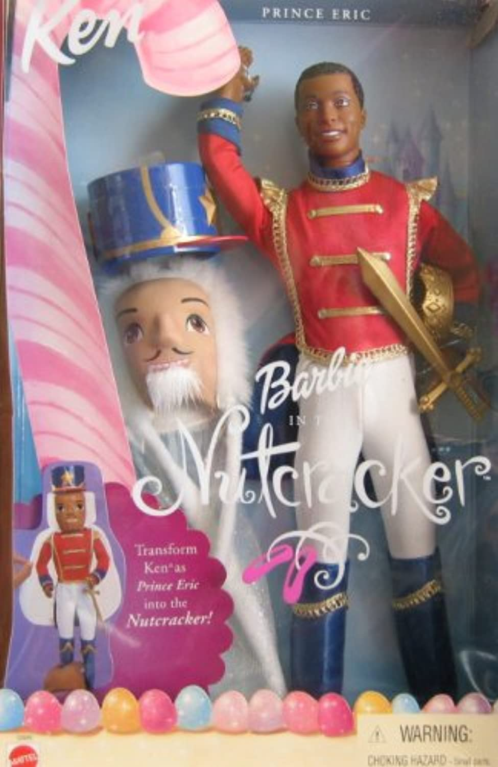 Barbie Nutcracker KEN Prince Eric Doll AA w Mask (2001)