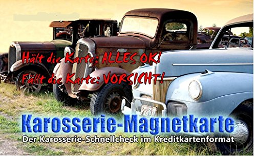 Karosserie Magnetkarte, Magnet, Karte Unfall, Spachtel, Lack, Prüfer,Check, Grip