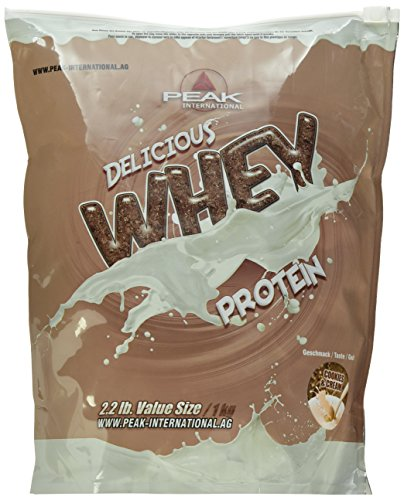 PEAK INTERNATIONAL Delicious Whey Protein, 1 kg Beutel, Cookies & Cream