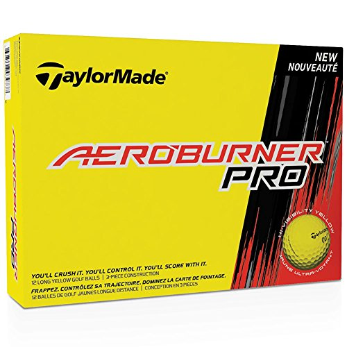 Taylor Made Aeroburner Pro Yellow Golf Balls