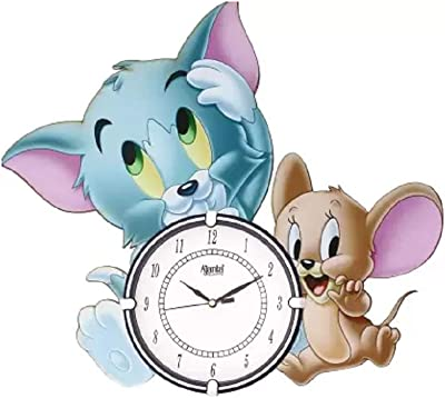 Ajanta Analog 39.37 cm X 44.45 cm Wall Clock (White, with Glass)