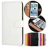 Roar Handy Hülle für Sony Xperia Z1 Compact, Handyhülle Weiß, Tasche Handytasche Schutzhülle, Kartenfach & Magnet-Verschluss