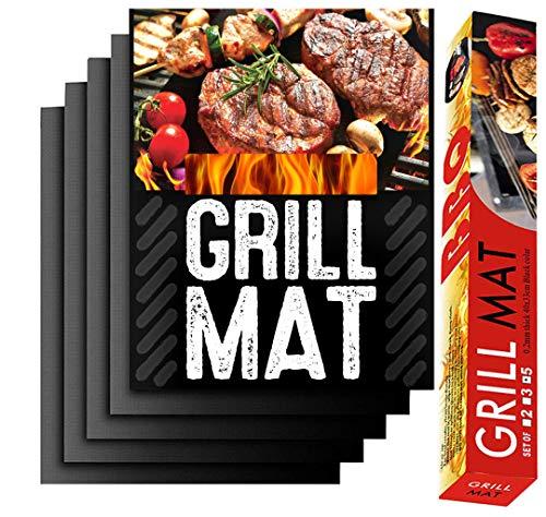 estera barbacoa Set de 5 bbq grill mat Teflon Antiadherente, Reutilizable, fácil...