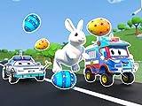Easter Bunny rescue / easter egg hunt / SpiderTruck saves Easter / The Unicorn Truck
