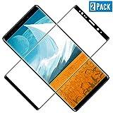 TOCYORIC Schutzfolie Panzerglas für Samsung Galaxy Note 8, 2 Stück, Vollständige Abdeckung, Ultra-HD Folie, Anti-Kratzen, Anti-Öl, Anti-Bläschen Glas Bildschirmschutzfolie für Samsung Galaxy Note 8