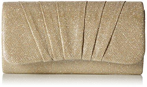 Damara Shimmert Mitte Falten Damen Clutch Handtasche,Gold