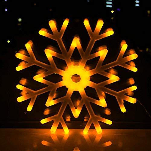 CJKBD Luci a fiocco di neve a led luci lampeggianti fiocco di neve piccole luci-fiocco di neve giallo da 40 cm