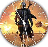 Star Wars The Mandalorian Wall Clock Frameless Silent Non-Ticking Nice for Gift or Wall Decor G78