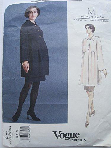 Vogue American Designer Pattern for Misses' Maternity Tunic & Skirt Sizes 12-14-16