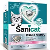 Sanicat Strong Clump Natural Ultra Clumping Cat Litter, Dust-free Deodorizer, Pleasant Fresh Scent