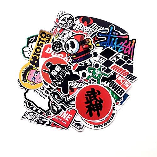 BLOUR 40 unids/Set Pegatinas de Dibujos Animados calcomanías de Motocicleta para Casco de Motocicleta Maleta para portátil monopatines Guitarra Pegatinas de Graffiti