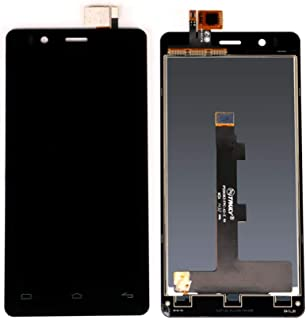 AN-JING Piezas de Repuesto LCD for Bq Aquaris E4.5 LCD con Pantalla táctil digitalizador Asamblea (Color : Black, Size : 4.5