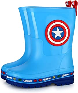 SPKIDS Boys Girls Avengers Spider-Man Captain America Children rain Boots