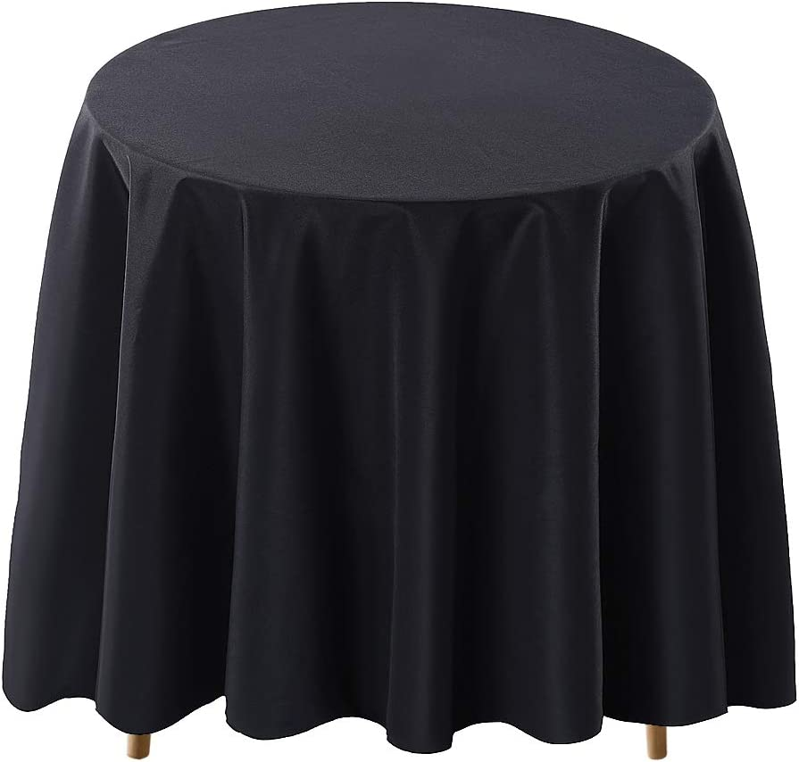 Surmente Max 59% OFF Tablecloth Financial sales sale 120 Inch Round for Table Cloth Polyester Wed