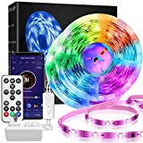 DreamColor LED Strip Lights,LINCCRAS 32.8ft RGBIC Waterproof Smart Music Sync Light Strip,Remote or Wi-Fi Phone App Controlled for Party, Room, Bedroom, TV, Christmas Decor with Brighter 5050 LEDs