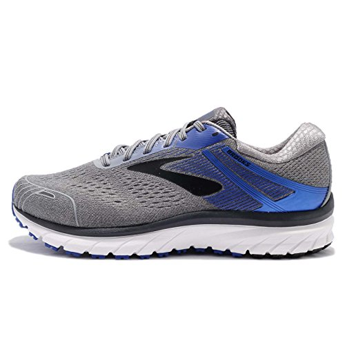 Brooks Men's Adrenaline GTS 18 Grey/Blue/Black 12 EEEE US 4E - Extra Wide