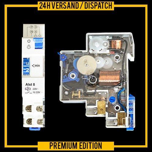 Treppenhausschalter Treppenhausautomat Zeitschaltuhr Aussenbeleuchtung Zeitrelais Hutschine DIN AL-ST8 ZZ1
