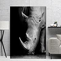 モダンミニマリストクローズアップシロサイブラックホワイトポスターキャンバス絵画壁アートプリント画像ホームルームの装飾80x110cm(32x43in)内枠