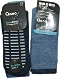 Qano 2er Pack Damen & Herren Socken mit ABS-Sohle Kurzschaft marine/jeans (39/42)