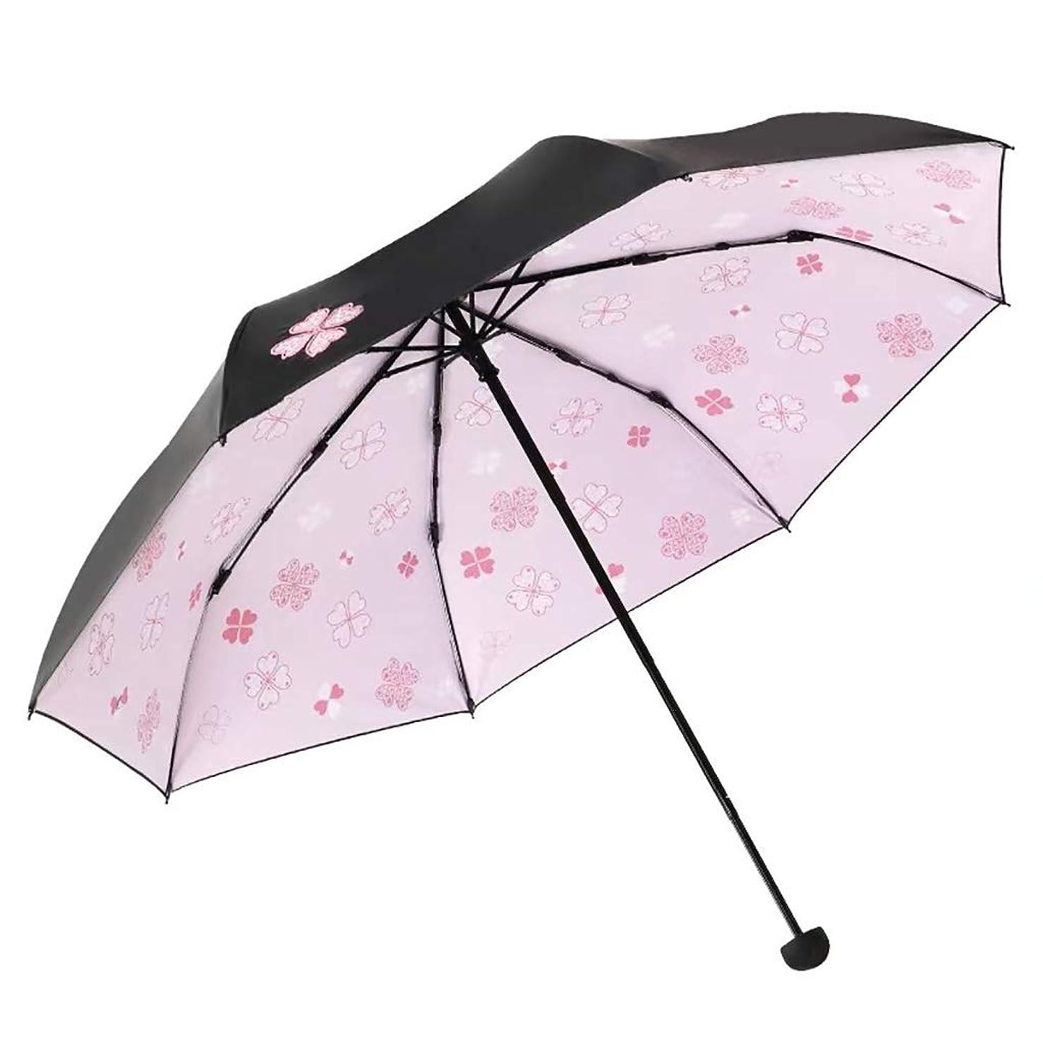 荒廃する適度に麻酔薬軽量ミニ傘、日焼け止めUVデュアルユース折りたたみ8リブ高速乾燥屋外傘 (Color : Pink)