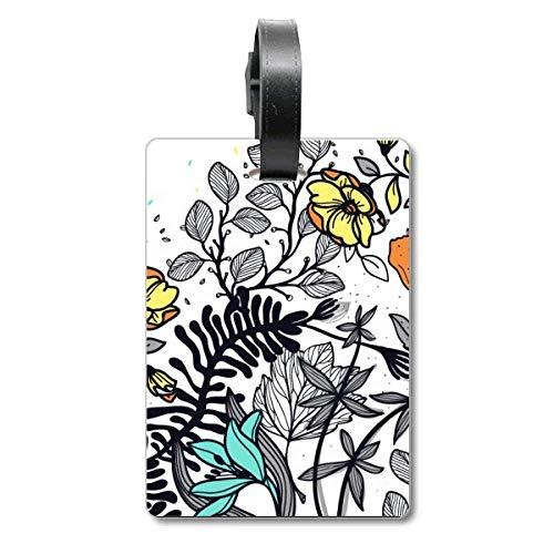 Modern Art Camellia Blumen Pflanzen Zeichnen Cruise Koffer Bag Tag Tourister Identifikationsetikett