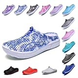 Garden Clog Shoes Beach Footwear Water bash Womens Summer Slippers Mesh Sandals Walking Slippers Quick Drying Outdoor Water Mens Womens Shoes Sky 163BLUE 38