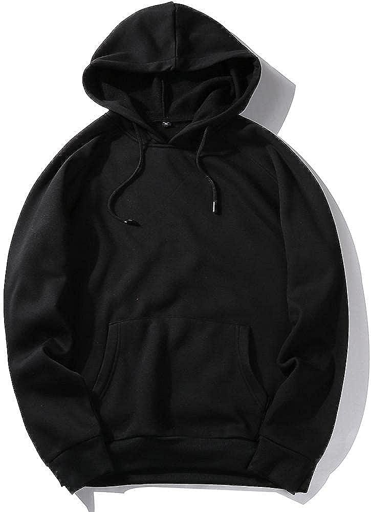 Hoodies for Men Men's Autumn Casual Solid Hip Loose Fit Fleece Long Sleeve Hoodie Top Blouse Fashion Hoodies & Sweatshirts