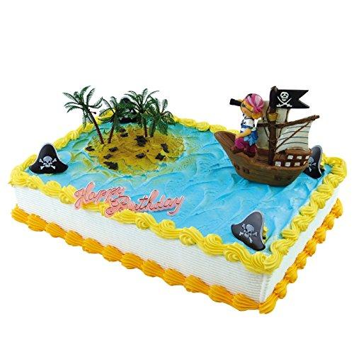Piraten-Mädchen im Segelschiff Figur ca. 10x9 cm