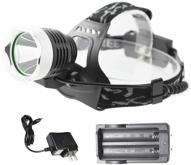 Headlights Glare Rechargeable LED Fixed Focus Flashlight Waterproof Super Bright LongRange 3000M Home Outdoor Night Riding Telescopic Headlights