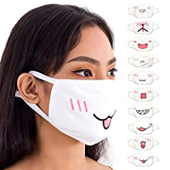 FASHIONABLE AND COMFORTABLE: These rave masks are made of 100% premium quality cotton. So, they're soft on the face while helping to protect the wearer from dust. And they give a unique and fashionable look to the wearer. Great for raving! ONE SIZE F...