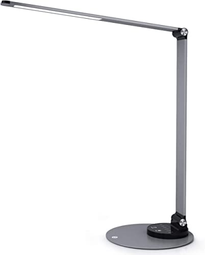 TaoTronics Aluminum Alloy Dimmable LED Desk Lamp with USB Charging Port, Table Lamp for Office Lighting, 3 Color Mode...