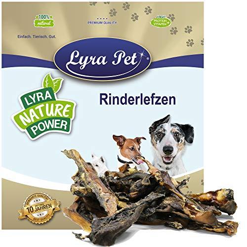 Lyra Pet® 1 kg Rinderlefzen 1000 g getrocknet vom Rind Kauartikel hart Kausnack