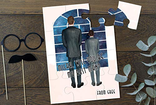 Will you be my Best Man Gift Personalized Groomsman Proposal Puzzle Will You Be My Junior Groomsman Puzzle Best Man Proposal