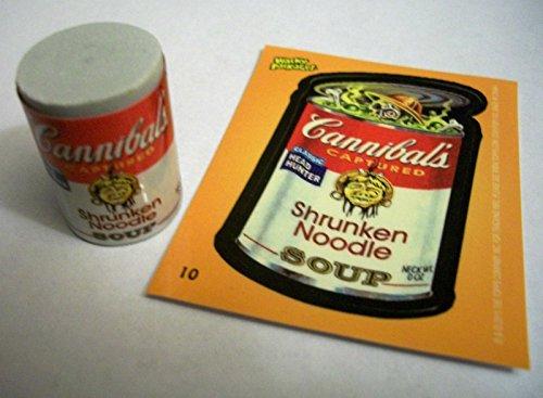 Wacky Packages Eraser Series2 **Cannibal's Soup** Eraser & Matching Sticker #10