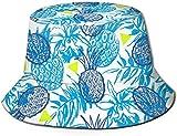 Sin Costuras con piña Tropical Tapa Plana Unisex Sombrero de Pescador Gorros al Aire Libre para Viajes Playa Protección Solar Gorra de Pescador Sin Costura Ancla de mar Sombrero de Cubo Sombrero de p