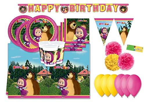 Procos - Kit N 46 Coordinato Compleanno Masha E Orso