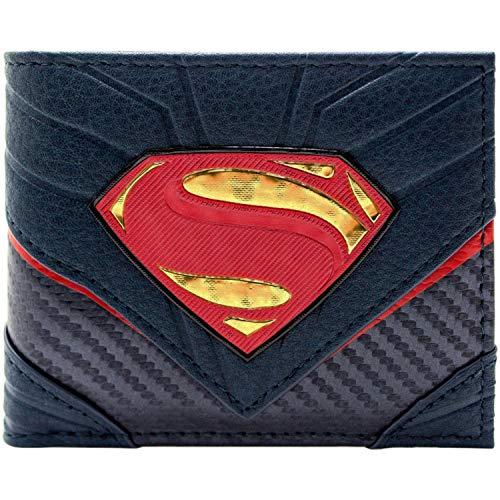 Cartera de DC Superman Traje de héroe de Carbono Negro