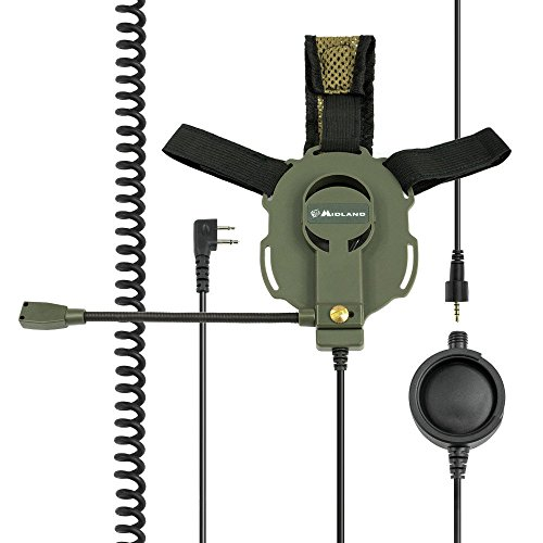Midland Bow-M Evo K, Tactical Military Headset mit Kenwood Stecker & drehbarem Mikro (L/R)