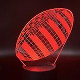 Veilleuse 3D Lampe Rugby Football Sport Ballon Jeux Chambre Décoration 7 Couleurs Avec Télécommande Meilleur Cadeau De Vacances Enfants Veilleuse Lampe